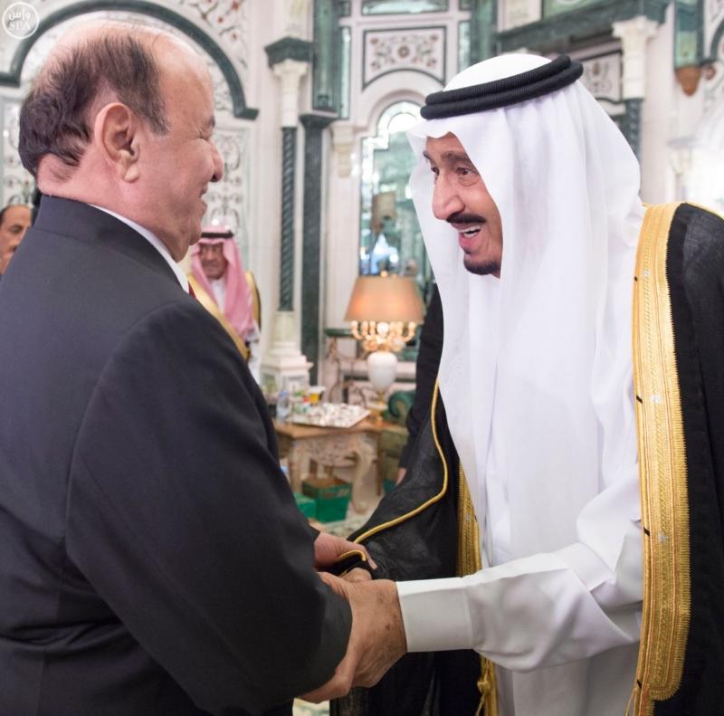 الملك يستقبل الرئيس اليمني
