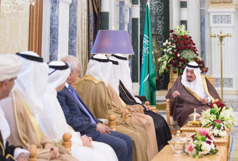 الملك يستقبل العيسى والزياني ووزراء التعليم العالي بمجلس التعاون (1)