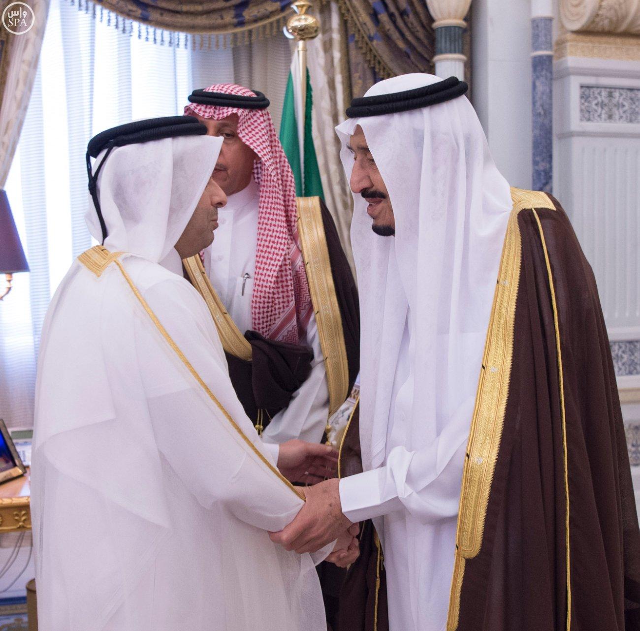 الملك يستقبل العيسى والزياني ووزراء التعليم العالي بمجلس التعاون (3)