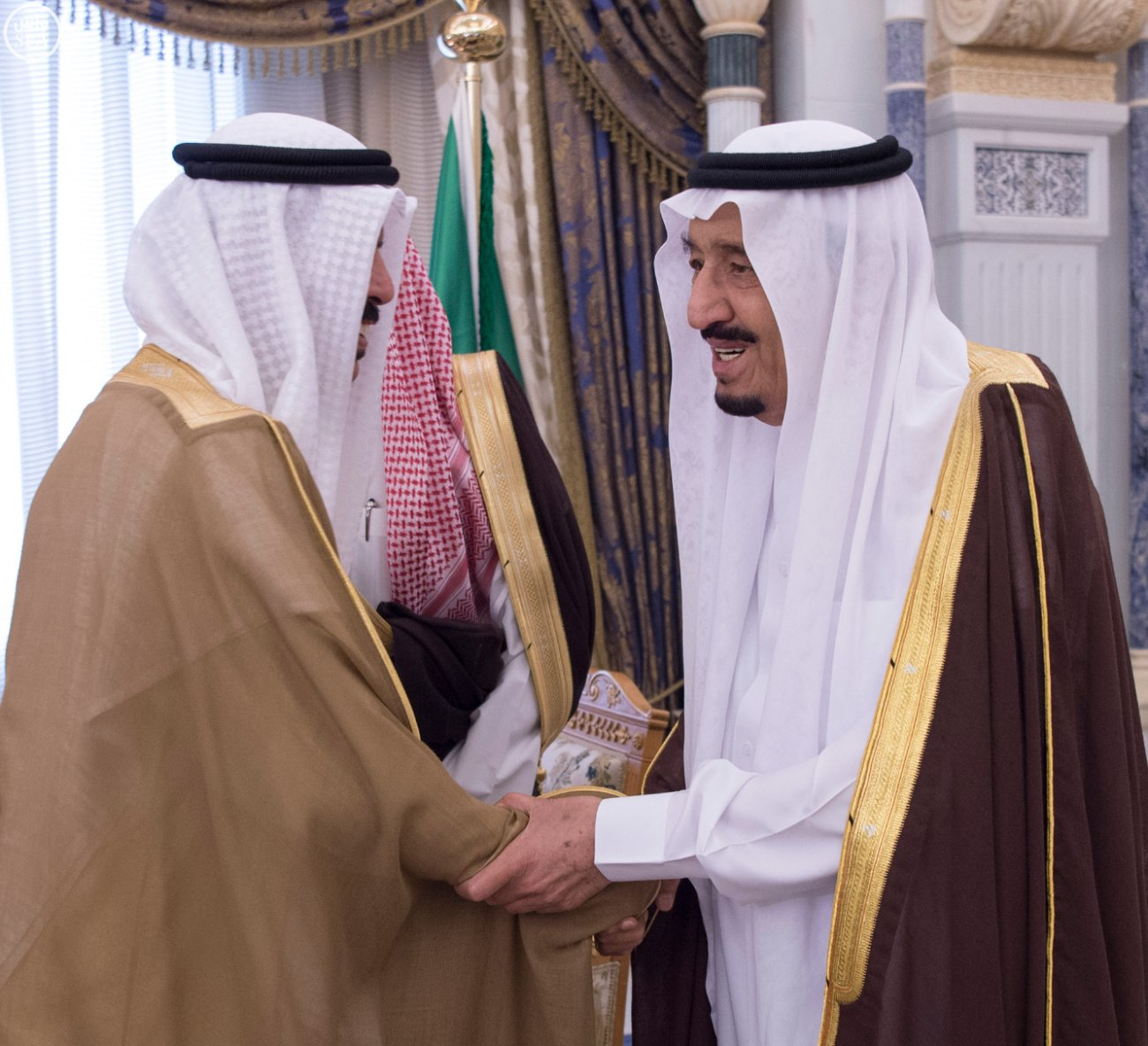 الملك يستقبل العيسى والزياني ووزراء التعليم العالي بمجلس التعاون (4)