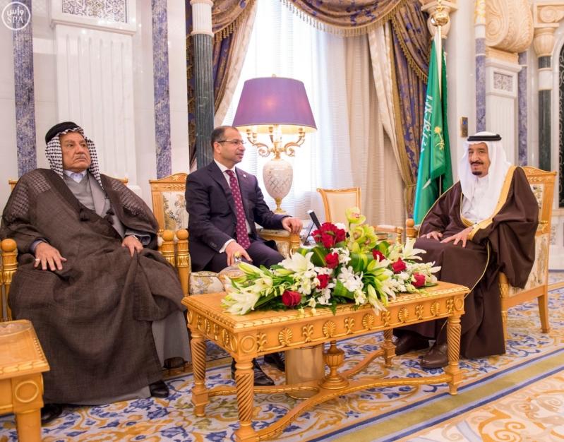 الملك يستقبل رئيسَ البرلمان العراقي الدكتور سليم بن عبدالله الجبوري
