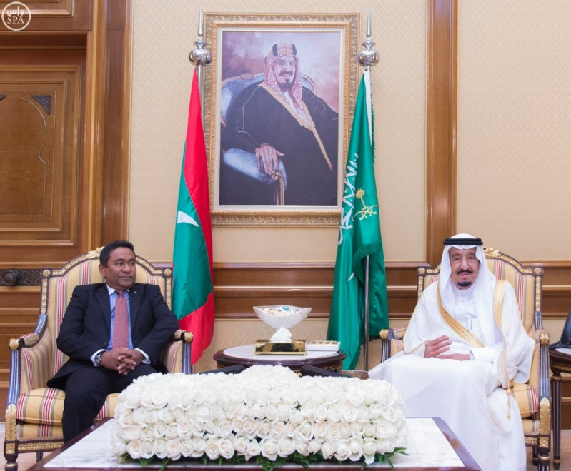 الملك-يستقبل-رئيس-المالديف