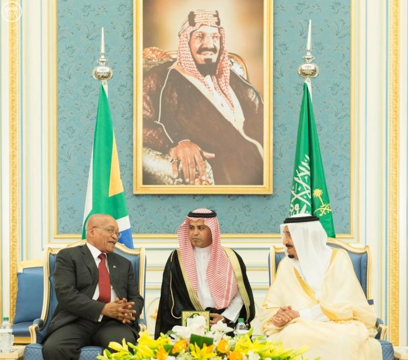الملك يستقبل رئيس جمهورية جنوب افريقيا16