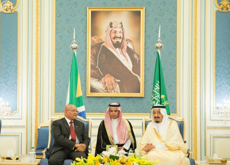 الملك يستقبل رئيس جمهورية جنوب افريقيا7