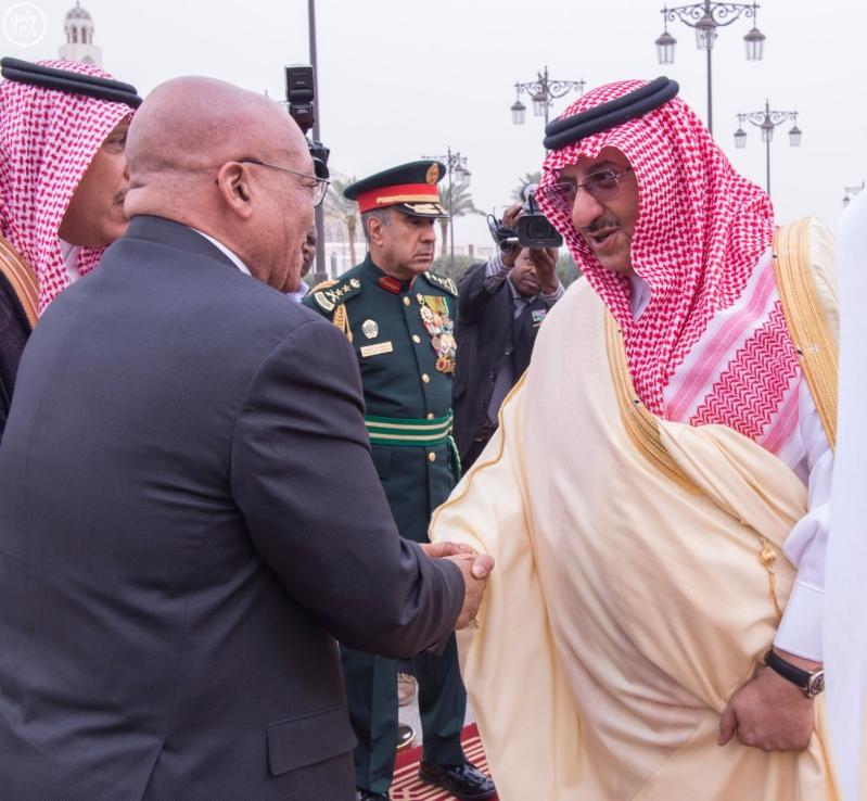 الملك يستقبل رئيس جمهورية جنوب افريقيا8