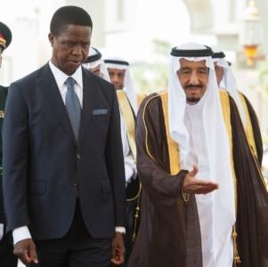 الملك يستقبل رئيس جمهورية زامبيا5