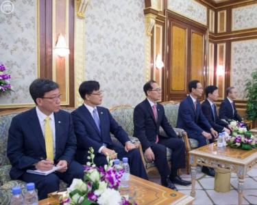 الملك يستقبل  رئيس وزراء جمهورية كوريا الجنوبية  (1) 