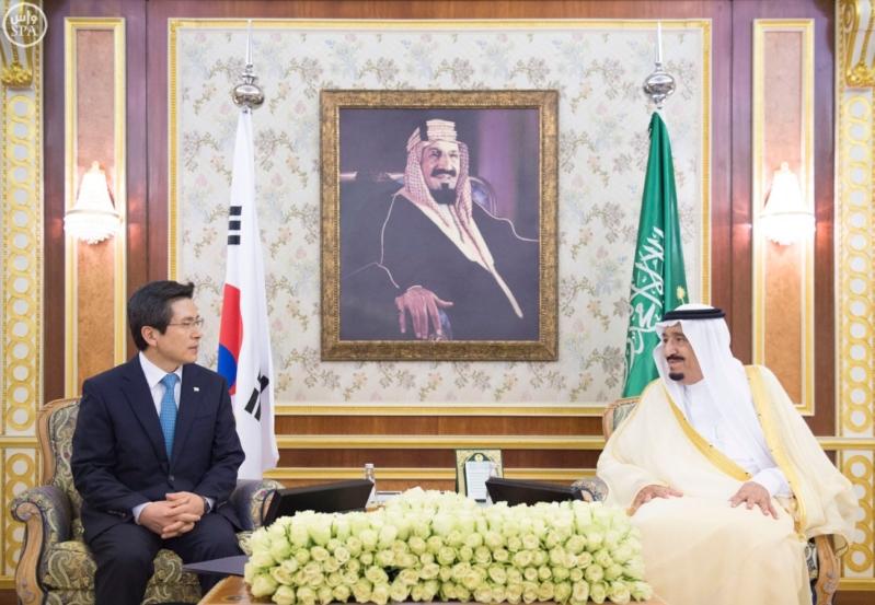 الملك يستقبل  رئيس وزراء جمهورية كوريا الجنوبية  (34669057) 