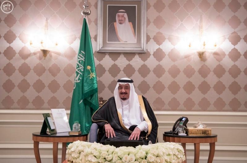 الملك يستقبل سفراء المعتمدين في مصر