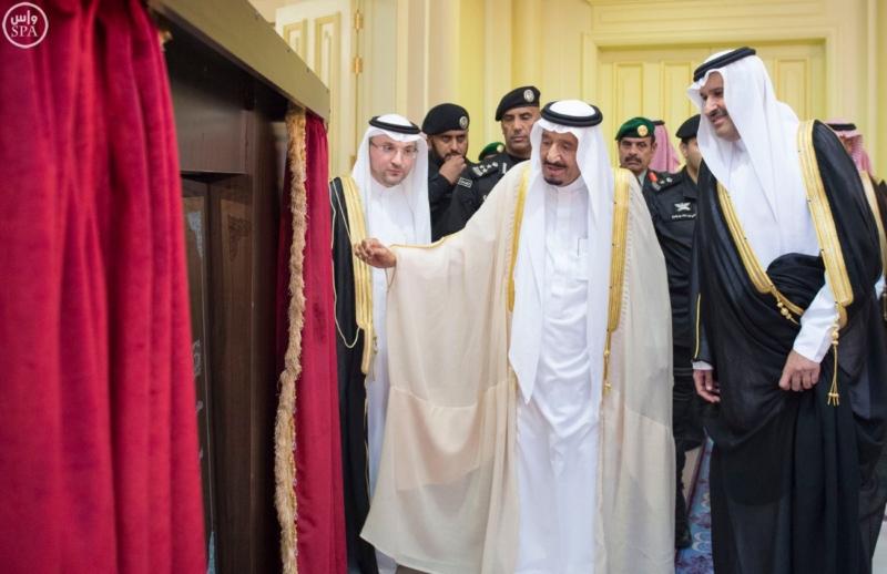 الملك يستقبل عددًا من الوزراء وكبار رجال الدولة1