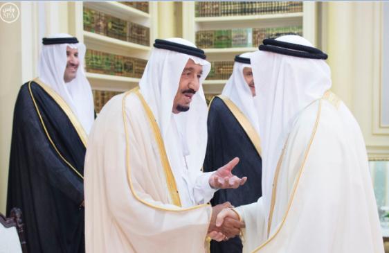 الملك يستقبل عددًا من الوزراء وكبار رجال الدولة91