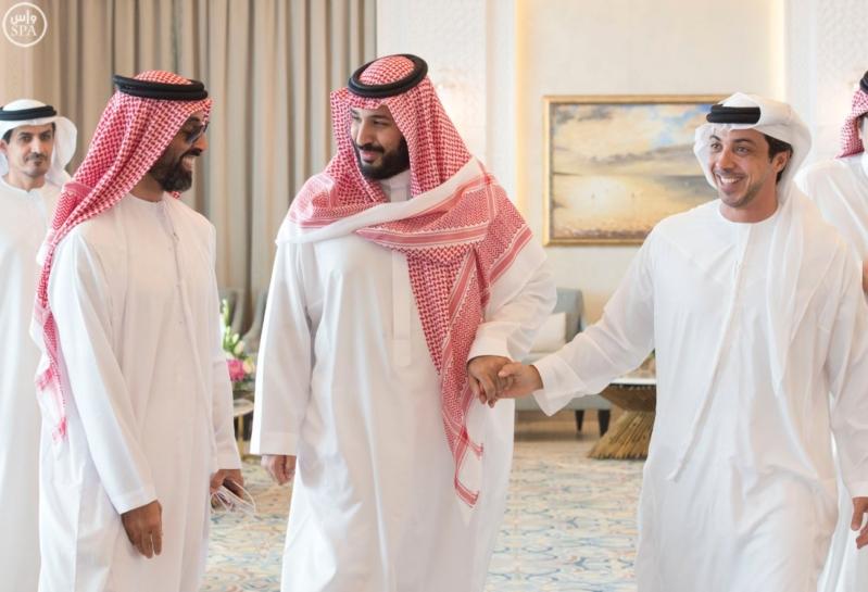 الملك يستقبل محمد بن زايد 12