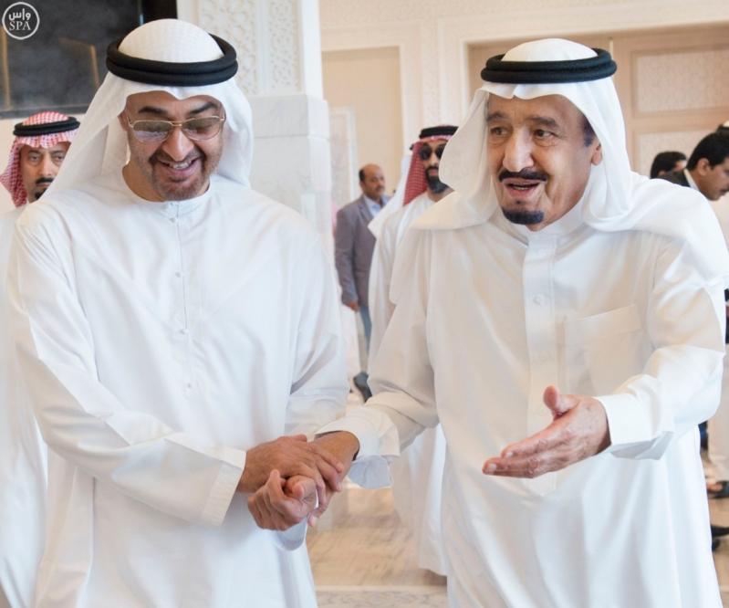 الملك يستقبل محمد بن زايد 7