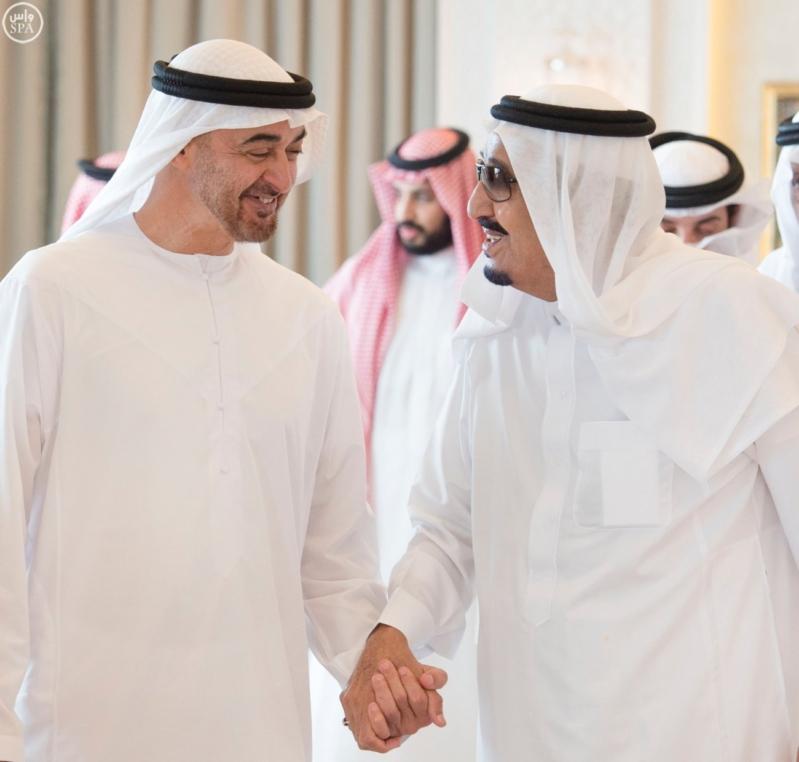 الملك يستقبل محمد بن زايد 8