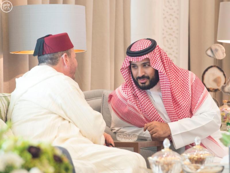 الملك يستقبل ملك المغرب.jpg10
