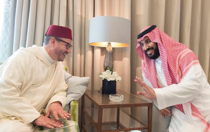 الملك يستقبل ملك المغرب.jpg12