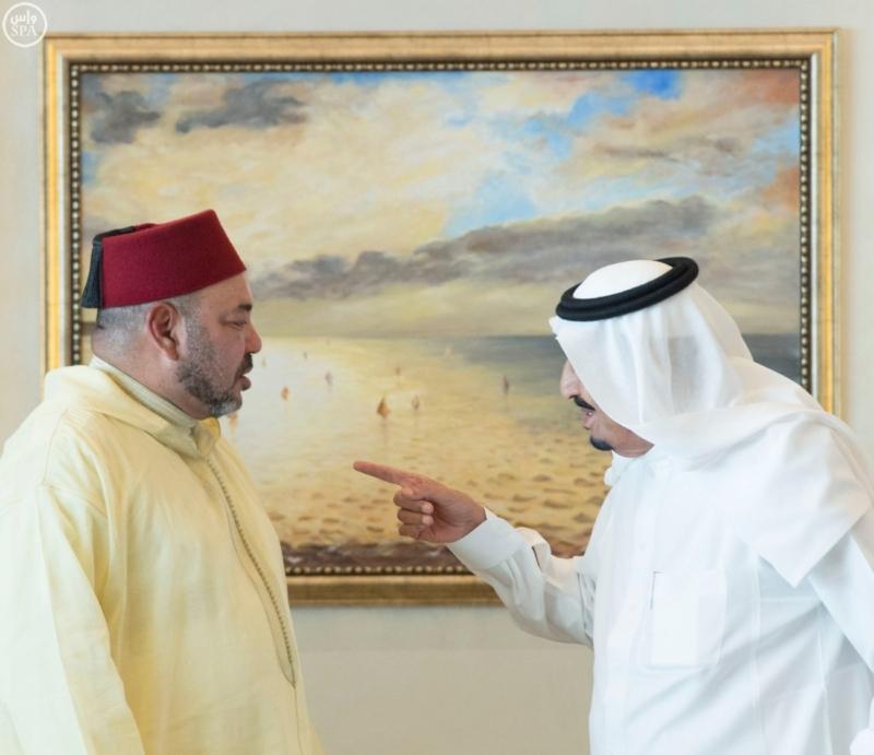 الملك يستقبل ملك المغرب.jpg4