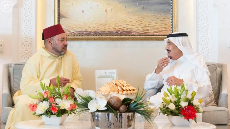 الملك يستقبل ملك المغرب.jpg6