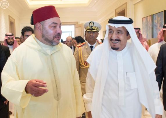 الملك يستقبل ملك المغرب