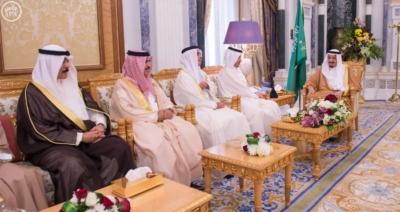 الملك يستقبل وزراء الداخلية الخليج (1) 