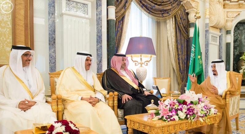 الملك يستقبل وزراء مجلس التعاون