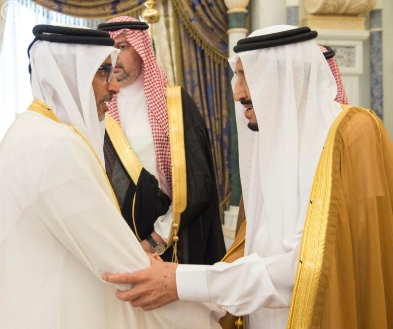الملك يستقبل وزراء مجلس التعاون2