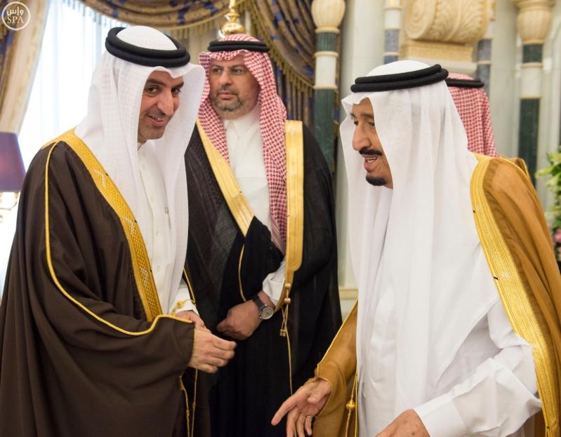 الملك يستقبل وزراء مجلس التعاون3