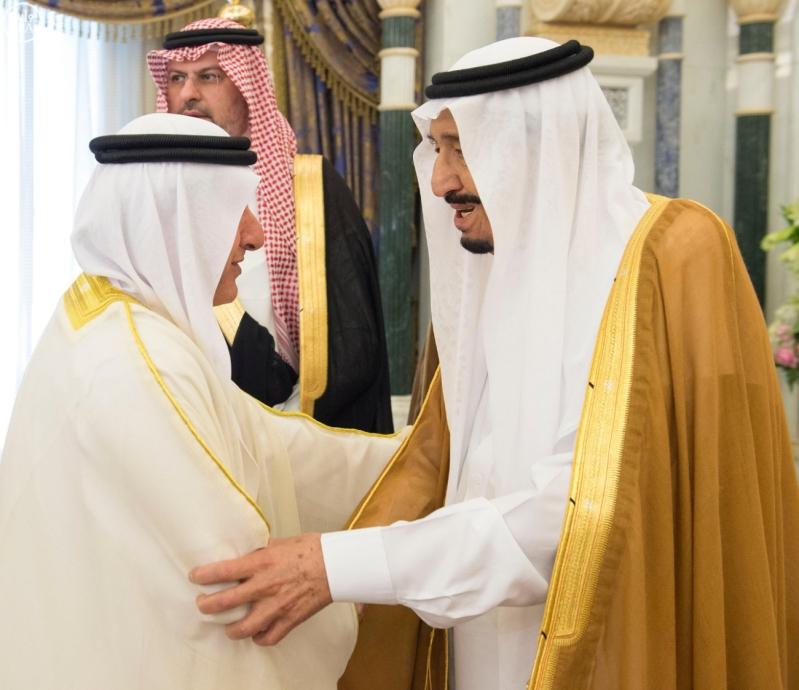 الملك يستقبل وزراء مجلس التعاون4