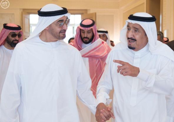 الملك يستقبل ولي عهد أبو ظبي
