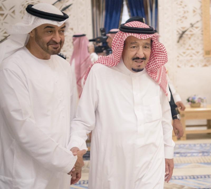 الملك يستقبل ولي عهد ابو ظبي 22