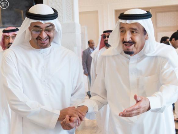 الملك يستقبل ولي عهد ابو ظبي