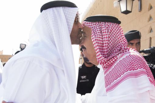 الملك يستقبل ولي عهد ابو ظبي1