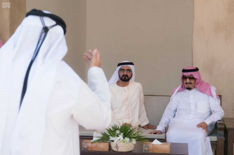 الملك يصل إلى إمارة دبي.jpg10