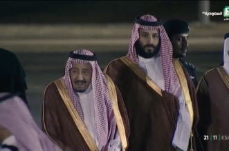 الملك يصل القدية