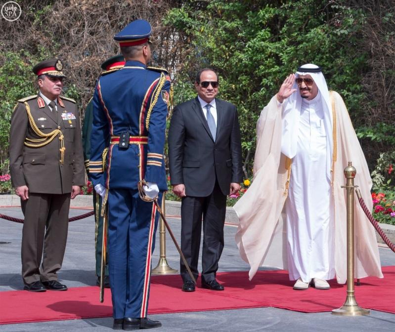 الملك يصل الى مصر10