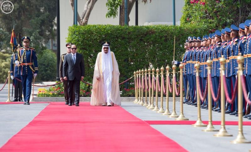 الملك يصل الى مصر8