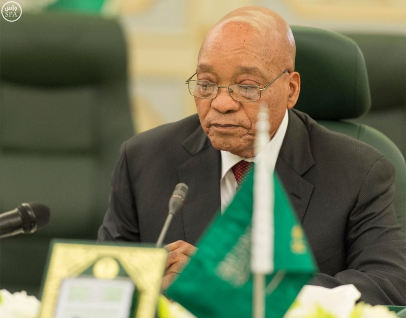 الملك يعقد جلسة مباحثات مع الرئيس الجنول افريقي6
