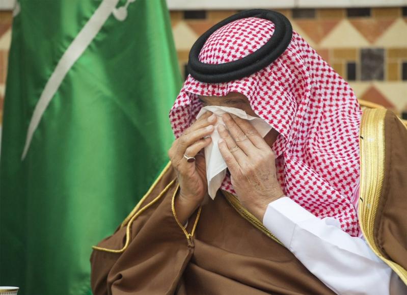 الملك يودع اخاه تركي بالدموع