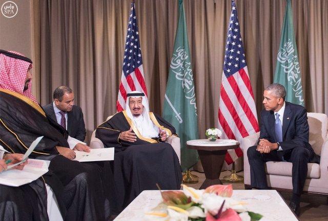 #الملك_سلمان يلتقي الرئيس الأمريكي (1)