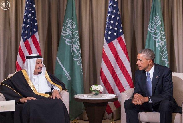 #الملك_سلمان يلتقي الرئيس الأمريكي (2)