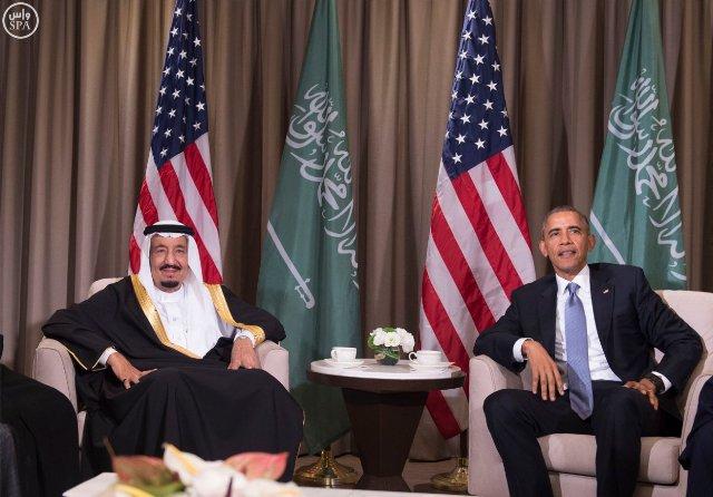 #الملك_سلمان يلتقي الرئيس الأمريكي (3)