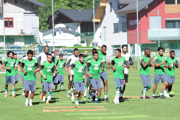 المنتخب السعودي يتدرب في النمسا (1) 