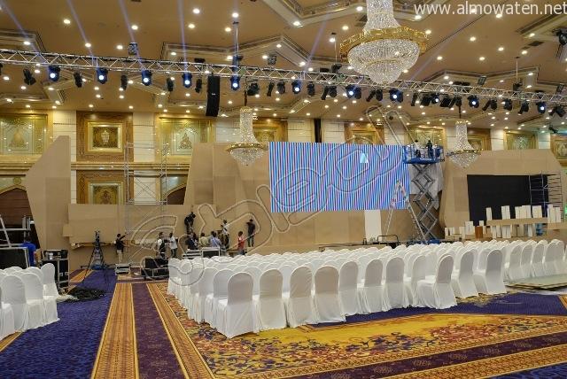 المواطن ترصد اللمسات النهائية لتجهيزات ملتقى الإعلام المرئي #شوف (2)