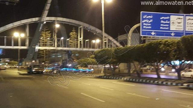 المواطن ترصد طريق أبها- الخميس بعد إغلاقه بسبب صيانة جسر المشاة (3)