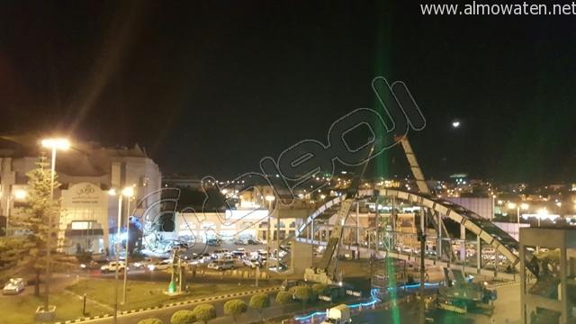 المواطن ترصد طريق أبها- الخميس بعد إغلاقه بسبب صيانة جسر المشاة (4)
