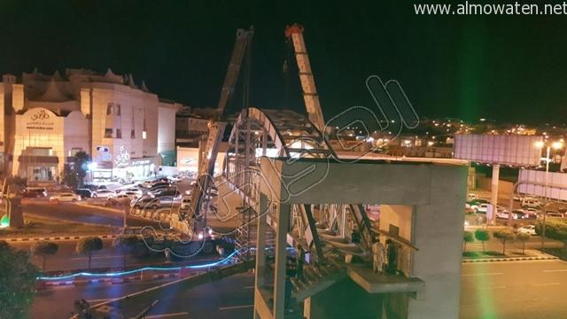 المواطن ترصد طريق أبها- الخميس بعد إغلاقه بسبب صيانة جسر المشاة (8)
