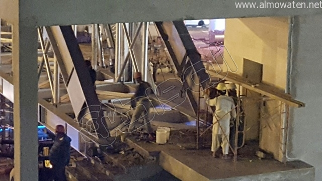 المواطن ترصد طريق أبها- الخميس بعد إغلاقه بسبب صيانة جسر المشاة (9)