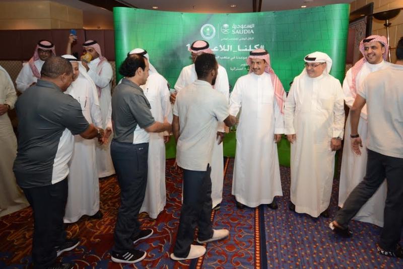 الناقل الوطني للمنتخب يحتفي بـالأخضر في جدة 1
