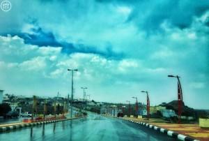 شاهد بالصور.. النماص بعد هطول أمطار متوسطة