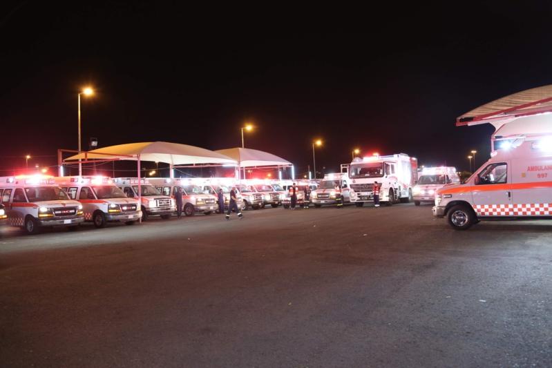 الهلال الأحمر يجهز (٦٧٧) سيارة إسعاف وآلية لتغطية العاصمة و المشاعر المقدسة